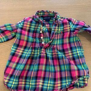 Girls cotton flannel shirt